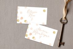 Rose Colored Glass Place Cards