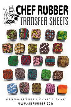 Chocolate Transfer Sheet Bright Blue Circles 17 Sheets
