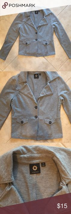 Gray cotton blazer size M Hardly worn, great condition, light gray blazer, so comfortable! It's cotton and spandex so it's stretchy and soft. Size M. Bought from Nordstrom's Jackets & Coats Blazers