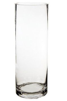 "Cylinder Vase, Glass Vases Wholesale. H-14"", Open Diameter - 5"" (Lot of 6 pcs)"