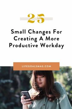 When it comes to living a balanced life, we'd all like to work smarter rather than harder. By working smarter, we're able to have more energy and time to dedicate to all aspects of our life. Here is a list of 25 ideas for having a more productive day at work, filled with time management strategies for creating your ideal work routine. Productive Things To Do, Productive Day, Pomodoro Method, Time Management Strategies, Balanced Life, Go Getter, Cover Letter For Resume, Career Goals, Small Changes