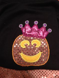 Halloween Pumpkin Princess Shirt find us on FB https://www.facebook.com/pages/Gigis-Pick-Stitch-Creations/611663832197866