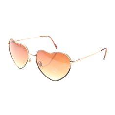 Lunettes de soleil forme cœur dorées, tous, Montures et lunettes de soleil…