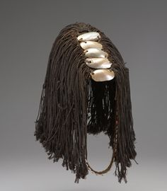 Lega culture (Democratic Republic of Congo) Man's Bwami Hat, called - century Plaits Hairstyles, African Hairstyles, African Hats, African Trade Beads, Hair Decorations, African Culture, Face Hair, Museum Of Fine Arts, Tribal Art