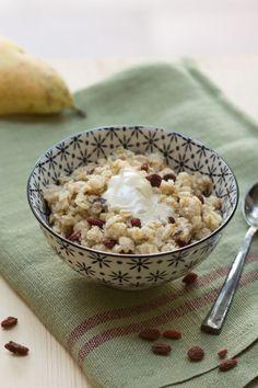 Porridge sans lait 3 Vegan Kitchen, Healthy Cooking, Healthy Food, Brunch, Oatmeal, Gluten, Vegan Recipes, Health Fitness, Eat