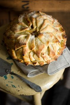 shingled crust brandy apple pie