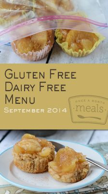 Gluten Free Dairy Free September 2014 Menu | Once A Month Meals
