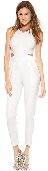 $101, White Jumpsuit: Hunter Bell One By Katie Jumpsuit. Sold by shopbop.com. Click for more info: https://lookastic.com/women/shop_items/37552/redirect
