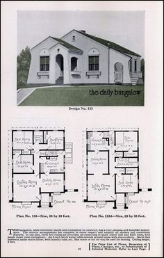 Early 1900 39 s floor plans would be a great lake house for Spanish bungalow house plans