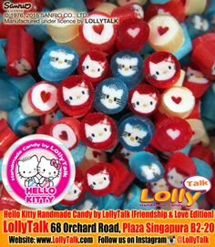 Hello Kitty Handmade Candy by LollyTalk; Friendship and Love Edition