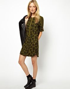 Whistles Dress in Large Leopard Print