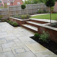 Large and varied garden design portfolio from garden design company ALDA Landscapes Garden Garden design Garden ideas Garden landscaping Garden lighting Back Garden Design, Modern Garden Design, Backyard Garden Design, Landscape Design, Landscape Plans, Garden Paving, Garden Steps, Terrace Garden, Patio Steps