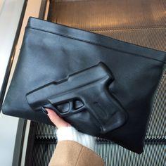 Unique black gun design clutch