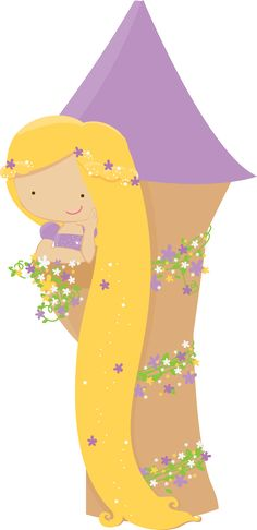 Rapunzel - Print and Cut Disney Princess Babies, Disney Princess Party, Baby Princess, Disney Rapunzel, Tangled Birthday Party, Princess Cookies, Clip Art, Baby Images, Cute Clipart