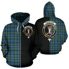 Robertson Hunting Ancient Tartan Hoodie Half Of Me TH8 – Scottish Clans Robertson Tartan, Scottish Clans, Dad Caps, Zip Up Hoodies, Quilt Bedding, My Heritage, Crew Socks, Custom Made, Zip Ups