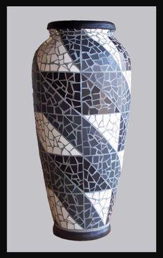 geometric mosaic #vase by Sue Hoskin