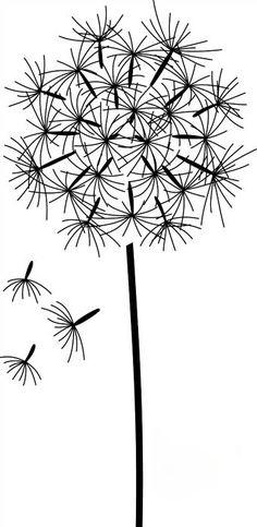 Dandelion Drawing  /  Fleur de Pissenlit