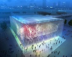 Solar Shanghai Pavilion- It's made of recycled CD cases!