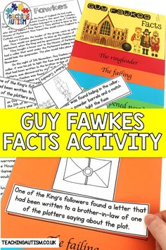 Are you looking for hands-on and engaging activities to teach your students about Guy Fawkes and the gunpowder plot? If so, this facts activity is perfect to use with your students. Teaching Life Skills, Autism Teaching, Skills To Learn, Teaching Resources, Daily 5 Activities, Literacy Activities, Guy Fawkes Facts, Gunpowder Plot, Special Education Classroom