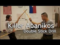 ABANIKO Crazy on Sinawali Double Sticks - Kali, Escrima, Arnis - YouTube