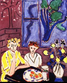Two Girls, Blue Window, 1947, by Henri Matisse (French, 1869–1954).