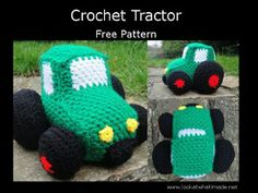 1500 Free Amigurumi Patterns: Free Crochet Tractor Pattern