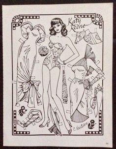 BLK & Wht Katy Keene Paper Dolls, John Lucas, Charles Ventura Artists - $5.24 | PicClick