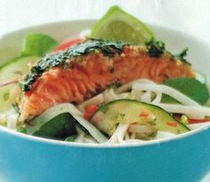 Thai Cured Salmon And Noodle Salad Recipe | Allyson Gofton