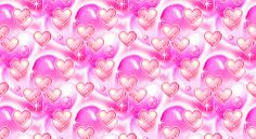 Pink Yellow Glitter Animated Hearts eBay Template FreeAuctionDesigns.com
