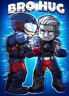 The Atom and Citizen Steel Supergirl, Legends Of Tommorow, Dc Legends Of Tomorrow, Dc Comics Superheroes, Dc Comics Art, Cartoon Pics, Cartoon Drawings, Aquaman, Lord Mesa Art