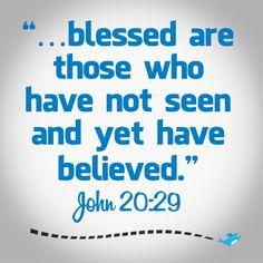 Bible Verse ~ John 20:29