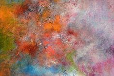 Large Blue Red AbstractRed Blue Textural PaintingHeavy by Andrada