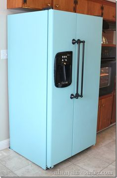Paint your fridge, add new handles!