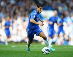 Eden Hazard of Chelsea in action during the Barclays Premier League match between Chelsea and Norwich City at Stamford Bridge on October 6, 2012 in London, England