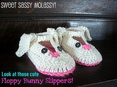Mama G's Big Crafty Blog: Free Floppy Bunny Crochet Slippers Pattern