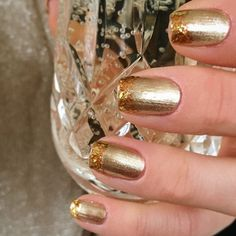 Gold nail inspo from Formula X | #Sephora Beauty Board #nails #sephoranailspotting