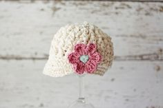 Crochet Hats for Babies Baby Girl Hat with by PBlossomBoutique, $26.00