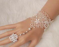 ON SALE Bridal gloves, wedding gloves bridal cuff, Lace white wedding, fingerless bridesmaid gloves. Lace Jewelry, Body Jewelry, Wedding Jewelry, Jewelery, Bridal Cuff, Bridal Lace, Wedding Gloves, Bride Gloves, Slave Bracelet