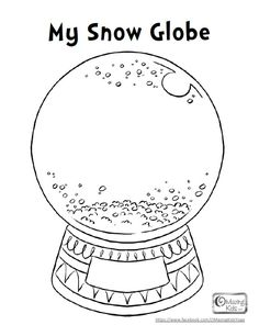 Free My Snow Globe #printable 1-page PDF