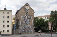 "Gargantuan Street Murals by Aryz-""Grateful death"" | Köln, Germany 2013"