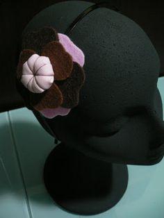 TallerdeLuna: Diadema rosa y marrón