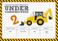 Construction Themed Birthday Party FREE Printables | Jacqueline Dziadosz, Invitations & Design