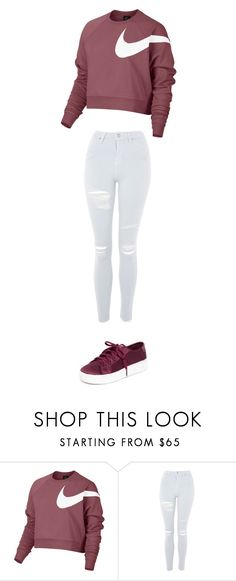 """nike"" by ottoca on Polyvore featuring NIKE, Topshop and Tretorn"