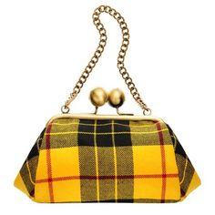 Silk Tartan Clutch Bag