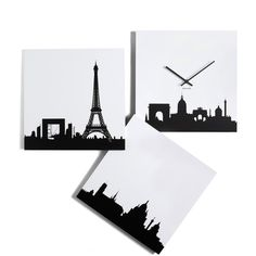 Present Time Paris je Time Wall Clock (435 ZAR) found on Polyvore