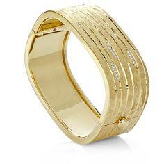 Le Bois bracelet in 18kt yellow gold with diamonds.