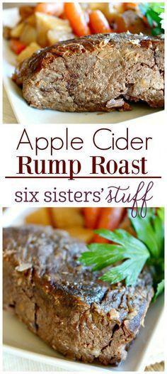 Apple Cider Rump Roast from SixSistersStuff.com