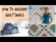 If You're Getting Into Free Motion Quilting, The Swirl Is A Great Place To Start! - 24 Blocks