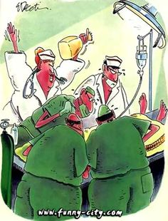 Surgery Humor! Hope this doesn't happen as the surgeon's working on the hernia! ; )