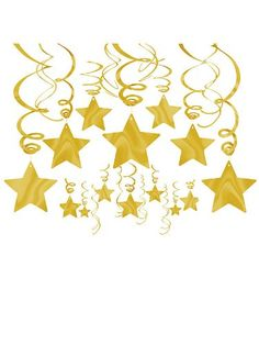 $8.87 Prime for 30....  Gold Foil Star Hanging Decorations (Each) Amscan http://www.amazon.com/dp/B0097B5TRM/ref=cm_sw_r_pi_dp_ruGDub073P6AP